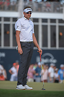 Ian Poulter (GBR) looks over his final putt to win the Houston Open, Golf Club of Houston, Houston, Texas. 4/1/2018.<br /> Picture: Golffile | Ken Murray<br /> <br /> <br /> All photo usage must carry mandatory copyright credit (&copy; Golffile | Ken Murray)