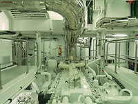 The immaculate engine room is testimony to the fact that Pegaso has only just been completed