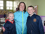Katie, Caroline and Sean Carolan who took part in the walk in aid of Drogheda Hospice Homecare, organised by the Parents' Associations of Presentation Primary, St Brigid's GNS, St Joseph's CBS primary and St Patrick's BNS. Photo:Colin Bell/pressphotos.ie
