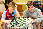 Eoin Lightfoot and Pablolobez Phelan from Ballyduff  at the Kerry Community Games Chess Tournament, held in Na Gael GAA Club on Sunday