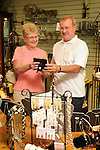 Senior couple shopping in gift store in Lewisburg, PA.