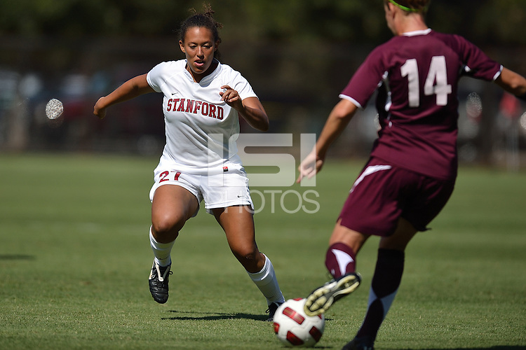 STANFORD, CA - OCTOBER 3: Marjani Hing-Glover of the Stanford women's soccer team during a game against Santa Clara played at Laird Q. Cagan Stadium in Stanford, California on October 3, 2010.  The Stanford Cardinal bested the Broncos, 2-0.