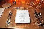 A table setting at a party for Giles Hennessey at the home of Becca Cason Thrash Tuesday March 9,2010. (Dave Rossman Photo)
