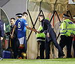 Pedro Caixinha commiserates with Ryan Jack after red card