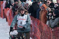 Musher # 8 Rick Swenson at the Restart of the 2009 Iditarod in Willow Alaska