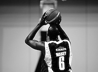 Saints import Erron Maxey shoots during the National basketball league match between the Wellington Saints  and Taranaki Mountainairs at TSB Bank Arena, Wellington, New Zealand on Friday, 9 April 2010. Photo: Dave Lintott / lintottphoto.co.nz