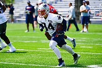 June 13, 2017: New England Patriots running back Rex Burkhead (34) runs the ball at the New England Patriots organized team activity held on the practice field at Gillette Stadium, in Foxborough, Massachusetts. Eric Canha/CSM