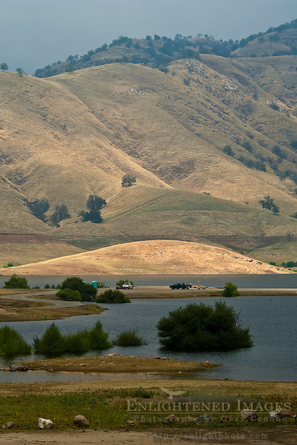 Low water level at Lake Kaweah, Tulare County, California