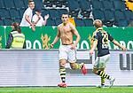 ***BETALBILD***  <br /> Solna 2015-05-31 Fotboll Allsvenskan AIK - Helsingborgs IF :  <br /> AIK:s Nabil Bahoui jublar utan tr&ouml;ja med Anton J&ouml;nsson Sal&eacute;tros efter sitt 2-1 m&aring;l under matchen mellan AIK och Helsingborgs IF <br /> (Foto: Kenta J&ouml;nsson) Nyckelord:  AIK Gnaget Friends Arena Allsvenskan Helsingborg HIF jubel gl&auml;dje lycka glad happy bar &ouml;verkropp matchtr&ouml;ja tr&ouml;ja
