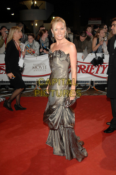 VICTORIA SMURFITT.National Movie Awards, Royal Festival Hall.28th September 2007 London, England.full length strapless grey gray silver dress gathered .CAP/PL.©Phil Loftus/Capital Pictures