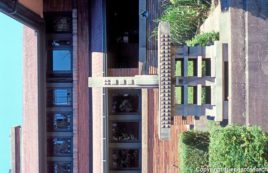F.L. Wright: Martin House. This concrete form was meant as a birdcage--for Martins--What else?--but it proved unsuitable.  Photo '88.