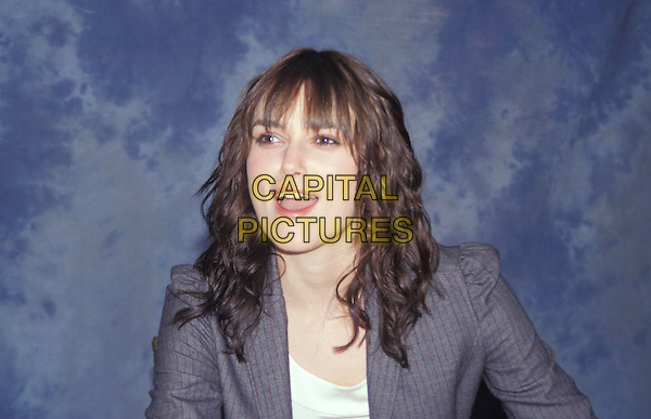 KEIRA KNIGHTLEY.headshot, portrait, Kiera Knightly, fringe, bangs.www.capitalpictures.com.sales@capitalpictures.com.Supplied By Capital Pictures.