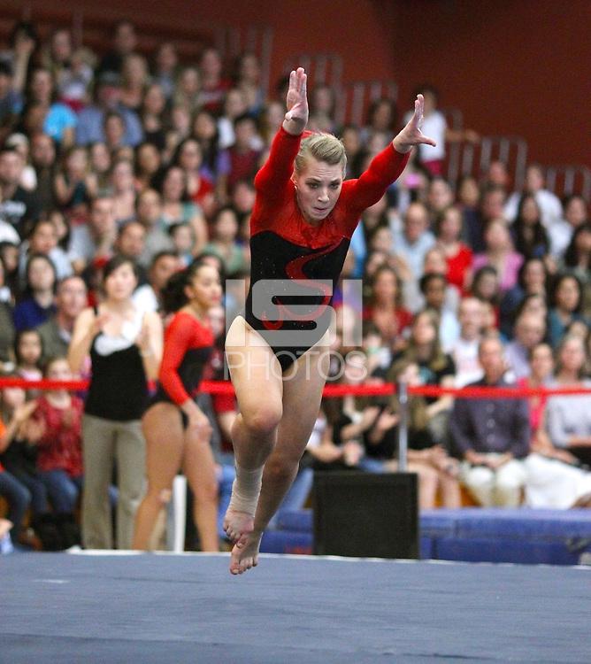 STANFORD, CA - January 23, 2011: Women's gymnastics, Stanford vs UCLA.