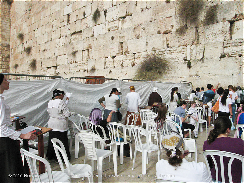 Women Praying at Western Wall, Old Jerusalem