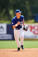 Logan Goodnight (52) of Linsly High School in Wheeling, West Virginia playing for the Chicago Cubs scout team during the East Coast Pro Showcase on July 30, 2015 at George M. Steinbrenner Field in Tampa, Florida.  (Mike Janes/Four Seam Images)