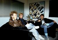 Le groupe norvegien A-HA vers le 18 Octobre 1986<br /> <br /> Ils sont devenu celebres avec le revolutionnaire video clip Take On Me , en 1985.<br /> <br /> PHOTO : Agence Quebec Presse - Harold Beaulieu
