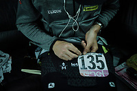 Luke Durbridge (AUS/Mitchelton-Scott) pinning on his race number ahead of stage 6<br /> <br /> Stage 6: Cassino to San Giovanni Rotondo (233km)<br /> 102nd Giro d'Italia 2019<br /> <br /> ©kramon