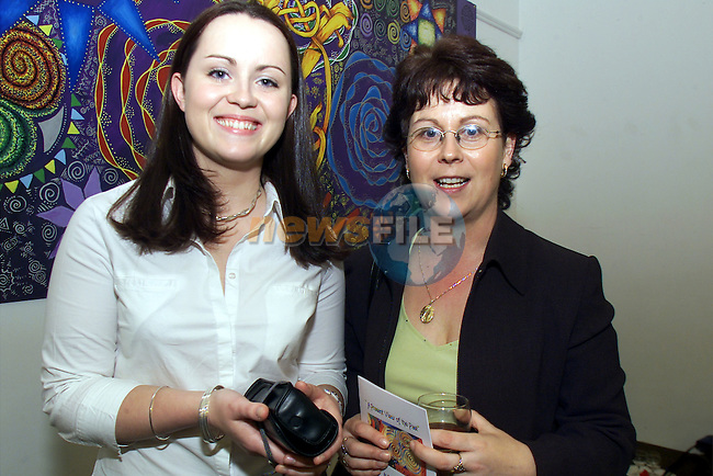 Helen McManus and her mother Anne pictured at the Ardee CC art exhibition at Bru na Boinne..Picture: Arthur Carron/Newsfile