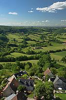 Paysage du causse correzien depuis le chateau de Turenne