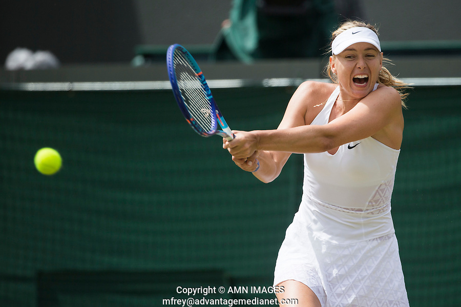 MARIA SHARAPOVA (RUS)<br /> <br /> TENNIS - THE CHAMPIONSHIPS - WIMBLEDON 2015 -  LONDON - ENGLAND - UNITED KINGDOM - ATP, WTA, ITF <br /> <br /> &copy; AMN IMAGES