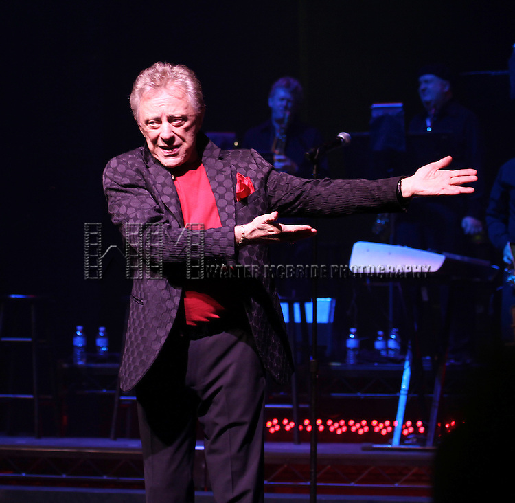 Frankie Valli and the Four Seasons celebrate 50th Anniversary with Broadway debut in 'The One. The Only. The Original.' at the Broadway Theatre on 10/19/2012 in New York City.