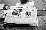 New York City, NY, June Friday 25th, 1971. Front page of the New York Times, The Pentagon Papers: Were three consecutive days, from June 13th, 14th, and 15th, 1971.