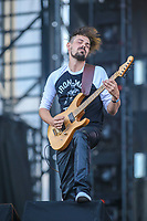 Metalord performs on the main stage of the Festival d'ete de Quebec (FEQ) in Quebec city Friday July 14, 2017.