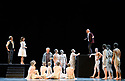 Edinburgh, UK. 08.08.2017. Budapest Festival Orchestra presents DON GIOVANNI, by Wolfgang Amadeus Mozart, at the Festival Theatre, as part of the Edinburgh International Festival. Ivan Fischer both conducts and directs his personal vision of Mozart's opera. The cast is: Christopher Maltman (Don Giovanni), Jose Fardilha (Leporello), Laura Aikin (Donna Anna), Lucy Crowe (Donna Elvira), Jeremy Ovenden (Don Ottavio), Kristinn Sigmundsson (Commendatore), Sylvia Schwartz (Zerlina), Matteo Peirone (Masetto). Picture shows: Matteo Peirone (Masetto), Sylvia Schwartz (Zerlina), Jose Fardilha (Leporello), Christopher Maltman (Don Giovanni). Photograph © Jane Hobson.