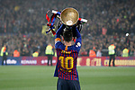 FC Barcelona's Leo Messi celebrates the victory in La Liga 2018/2019. April 27,2019. (ALTERPHOTOS/Acero)