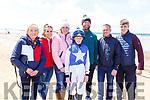 ckey Finn Brickley, stands with Niamh O'Donovan, Theresa Lovekins, Jenny Brickley, Bill Lovekins, David Brickley and Sean Gorman at the Ballybunion Races on Saturday.