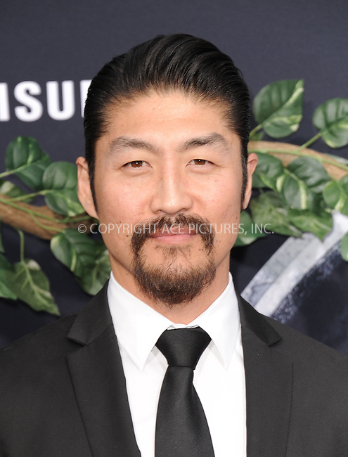WWW.ACEPIXS.COM<br /> <br /> June 9 2015, LA<br /> <br /> Brian Tee arriving at the world premiere of 'Jurassic World' at the Dolby Theatre on June 9, 2015 in Hollywood, California. <br /> <br /> <br /> By Line: Peter West/ACE Pictures<br /> <br /> <br /> ACE Pictures, Inc.<br /> tel: 646 769 0430<br /> Email: info@acepixs.com<br /> www.acepixs.com