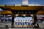 Wanty-Gobert Cycling Team at the team presentations in Compiegne before Paris-Roubaix 2019, Compiegne, France. 13th April 2019<br /> Picture: ASO/Pauline Ballet | Cyclefile<br /> All photos usage must carry mandatory copyright credit (© Cyclefile | ASO/Pauline Ballet)
