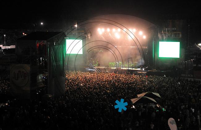 Highfield-Festival 2011 am Störmthaler See. im Bild:  Blick auf die Main Stage.. Foto: Alexander Bley