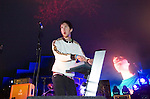 Calvin Harris playing at Escape into the Park dance festival in Singleton Park, Swansea..