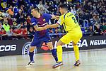 League LNFS 2017/2018 - Game 15.<br /> FC Barcelona Lassa vs Gran Canaria FS: 9-2.<br /> Sergio Lozano vs Ivan Gonfaus.