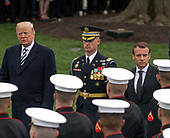 United States President Donald J. Trump and first lady Melania Trump host an arrival ceremony for President Emmanuel Macron of France and his wife, Brigitte Macron, on the South Lawn of the White House in Washington, DC on Tuesday, April 24, 2018.<br /> Credit: Ron Sachs / CNP