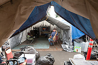 Tent City 3, Lantz Rowland, 58 (long hair) and Dwight Simeon, 51
