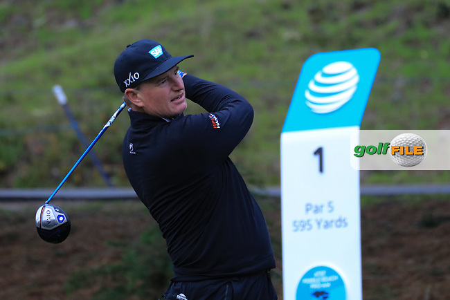 Ernie Els (RSA) in action at Spyglass Hill Golf Course during the second round of the AT&amp;T Pro-Am, Pebble Beach Golf Links, Monterey, USA. 08/02/2019<br /> Picture: Golffile | Phil Inglis<br /> <br /> <br /> All photo usage must carry mandatory copyright credit (&copy; Golffile | Phil Inglis)