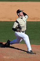 March 7, 2010:  Pitcher Joe Rogers of the Central Florida Knights during game at Jay Bergman Field in Orlando, FL.  Central Florida lost to Central Michigan by the score of 7-4.  Photo By Mike Janes/Four Seam Images