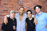 """All My Children Keith Hamilton Cobb stars as """"Oberon"""" and """"Duke Theseus"""" and poses with castmates Robert Rutland """"Egeus"""" & """"Philostrate"""", George Abud """"Puck"""", Ian Holcomb """"Demetrius"""" as they star in William Shakespeare's A Midsummer Night's Dream on May 26, 2013 - one of many performances - at Geva Theatre Center, Rochester, New York.  (Photo by Sue Coflin/Max Photos)"""