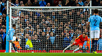 Manchester City's Gabriel Jesus scores his side's second goal from the penalty spot<br /> <br /> Photographer Alex Dodd/CameraSport<br /> <br /> UEFA Champions League Group F - Manchester City v Shakhtar Donetsk - Wednesday 7th November 2018 - City of Manchester Stadium - Manchester<br />  <br /> World Copyright © 2018 CameraSport. All rights reserved. 43 Linden Ave. Countesthorpe. Leicester. England. LE8 5PG - Tel: +44 (0) 116 277 4147 - admin@camerasport.com - www.camerasport.com