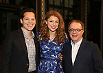 Melissa Benoit with Producers Mike Bosner and Paul Blake backstage after her Opening Night debut in 'Beautiful-The Carole King Musical' at the Stephen Sondheim on June 12, 2018 in New York City.