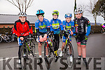 MEMORIAL CYCLE: Taking part in the Jimmy Duffy memorial cycle at Blennerville on Saturday were Sean Lynch, Killian O'Sullivan, Dylan O'Sullivan, Ciarán Commane and sarah mcgrath