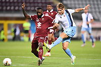 Ciro Immobile of SS Lazio scores the goal of 1-1 during the Serie A football match between Torino FC and SS Lazio at stadio Olimpico in Turin ( Italy ), June 30th, 2020. Play resumes behind closed doors following the outbreak of the coronavirus disease. <br /> Photo Image Sport / Insidefoto
