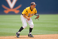 Shortstop Gregory Fujii #2 of the VCU Rams on defense against the St. John's Red Storm at the Charlottesville Regional of the 2010 College World Series at Davenport Field on June 5, 2010, in Charlottesville, Virginia.  The Red Storm defeated the Rams 8-6.  Photo by Brian Westerholt / Four Seam Images