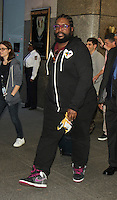 NEW YORK, NY-August 03: ?uestlove  of the Roots the houseband on Late Night with Jimmy Fallon leaving NBC Studio  at 30 Rock in New York. NY August 03, 2016. Credit:RW/MediaPunch