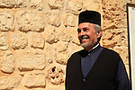 Israel, Jerusalem, Rev. Claudio Peppas at the Greek Orthodox Monastery of the Holy Cross