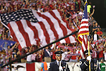 11 September 2012: During the pregame national anthem. The United States Men's National Team defeated the Jamaica Men's National Team 1-0 at Columbus Crew Stadium in Columbus, Ohio in a CONCACAF Third Round World Cup Qualifying match for the FIFA 2014 Brazil World Cup.