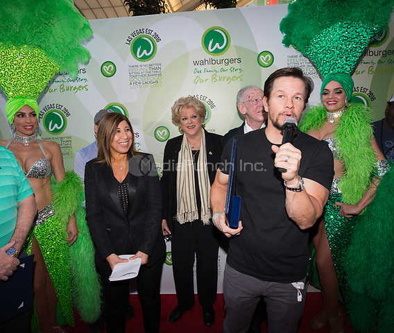 LAS VEGAS, NV - March 28, 2017: ***HOUSE COVERAGE***  Mark Wahlberg pictured as  Mark and Paul Wahlberg attend event at Wahlburgers at The Grand Bazaar Shops at Bally's in Las vegas, NV on March 28, 2017. Credit: Erik Kabik Photography/ MediaPunch