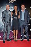 "NAOMIE HARRIS, JAVIER BARDEM AND DANIEL CRAIG.attend the premiere of the twenty-third 007 adventure, ""Skyfall"" at Santa Ana Square, Madrid_29/10/2012.Mandatory Credit Photo: ©NEWSPIX INTERNATIONAL..**ALL FEES PAYABLE TO: ""NEWSPIX INTERNATIONAL""**..IMMEDIATE CONFIRMATION OF USAGE REQUIRED:.Newspix International, 31 Chinnery Hill, Bishop's Stortford, ENGLAND CM23 3PS.Tel:+441279 324672  ; Fax: +441279656877.Mobile:  07775681153.e-mail: info@newspixinternational.co.uk"